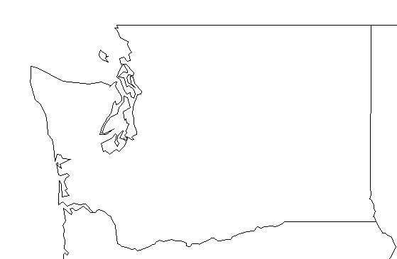 Washington State Map Blank Outline